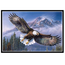 Needlework,DIY DMC 14CT Unprinted Cross stitch,Sets For Embroidery kits,Eagles fly 2 Counted Cross-Stitching,Wall Home Decro спот arte lamp lyra a6252pl 2bk