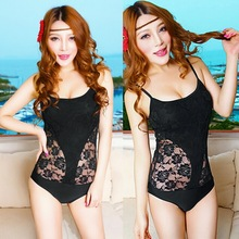 Spaghetti Strap Underwire Padded Women s One piece Monokini Swimwear Sheer Sides