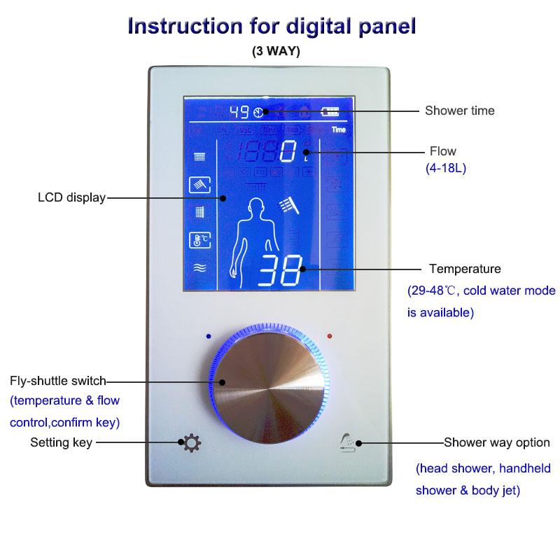 digital shower control thermostat