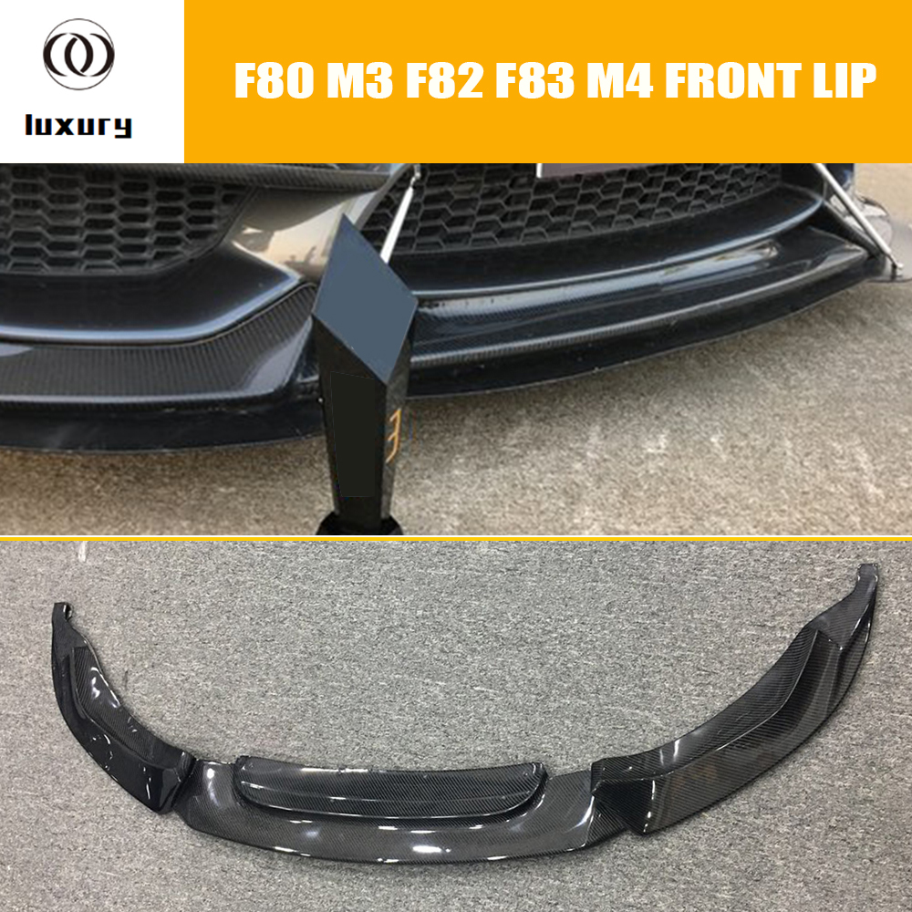 F80 F82 F83 M3 M4 Carbon Fiber VRS Style Front Lip for BMW F80 M3 Sedan F82 M4 Coupe F83 M4 Cabriolet 2012 - 2017