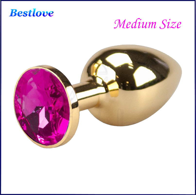 <font><b>Medium</b></font> <font><b>Size</b></font> 9 Colors 3 cm Diameter <font><b>Anal</b></font> Sex Products For Women And Men <font><b>Butt</b></font> Plug Adult Toys <font><b>New</b></font> 2014 RO-GS(01-09)