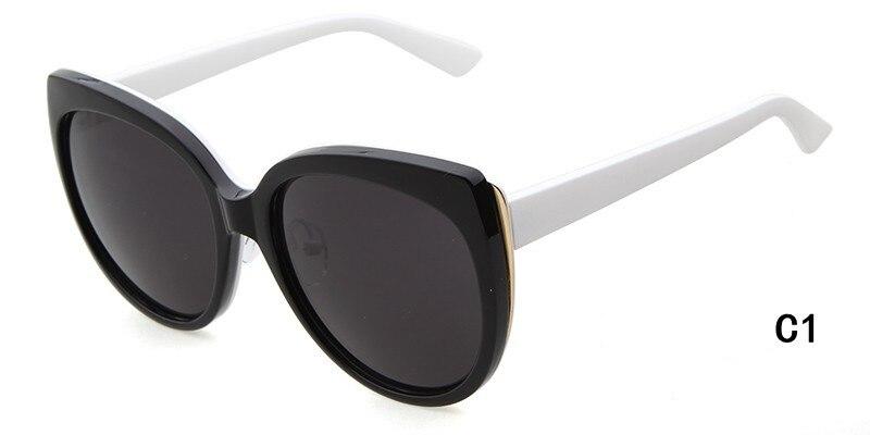 font b Fashion b font Women Cat Eye Sunglasses Classic Brand Designer Sun Glasses Double