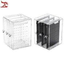 3 Drawer Transparent Crystal Jewelry Organizer Holder Shelf Acrylic Earring Necklace Hanger Storage Showcase Display Stand Box цены онлайн