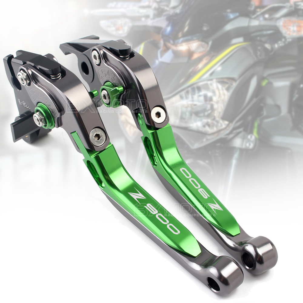 Motorcycle Accessories For Kawasaki Z900 Z900 2017 2018 2019 CNC Adjustable Folding Extendable Brakes Clutch Levers