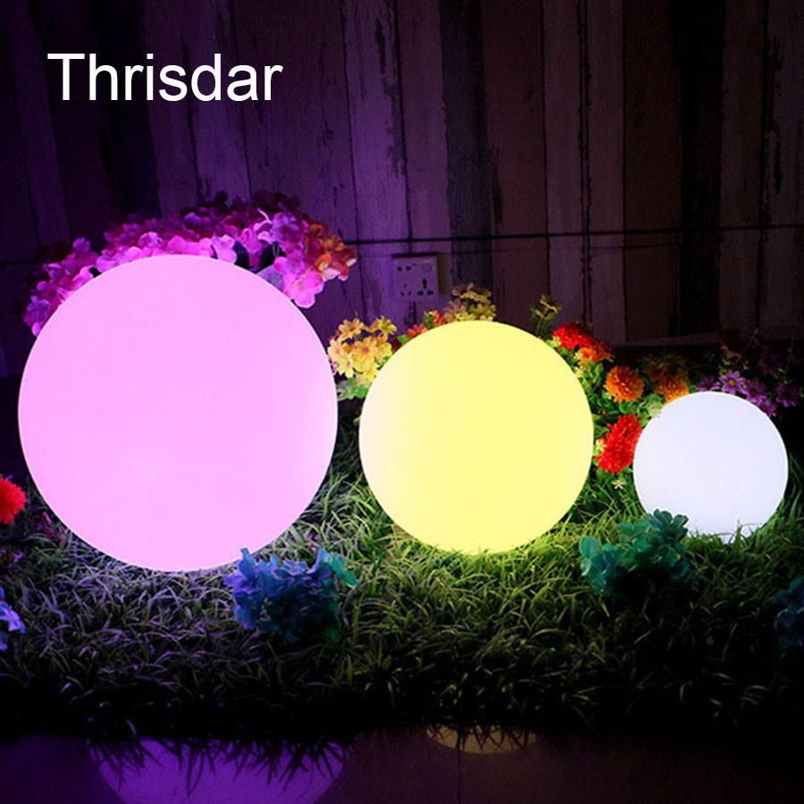 Rechargeable RGB Led illuminated Furniture Table Lamps Outdoor Led illuminated Floating Swimming Pool Ball Light With Remote