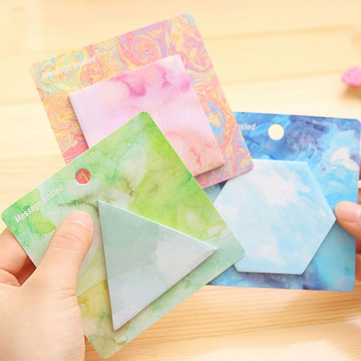 Personalized Painting Shape Self-Adhesive Memo Pad Sticky Notes Bookmark School Office Supply