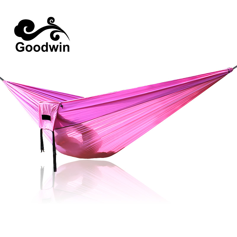 1or 2 People Portable Parachute Hammock Camping Survival Garden Hunting Leisure Travel Double Person Hamak 260*140cm 300*200cm 2017 2 people hammock camping survival garden hunting travel double person portable parachute outdoor furniture sleeping bag