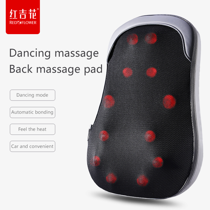 Back Waist Lumbar Adult Massager Beat Kneading Body Massage Chair Cushion Home Car Cushion-cover Physiotherapy Relax Health Pad tapping massage cushion 3d new massager whole body massage chair mat for sale