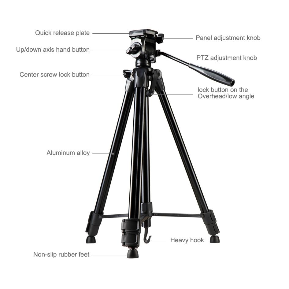 Voor Digitale SLRC Camera Video Outdoor Filmen Licht Draagbare Aluminium Statief CD50 - 2
