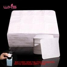 3000Pcsเล็บPliosh Removerผ้าสำลีฟรีผ้าเช็ดทำความสะอาดกำจัดเจลเล็บทำความสะอาดเล็บผ้ากันเปื้อนดูดซับ