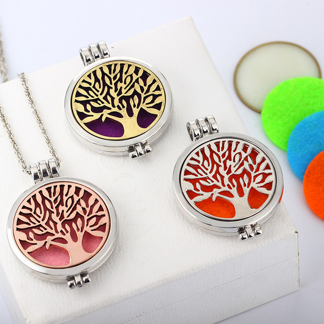 Tree Of Life Vintage Aromatherapy Pendant Necklace