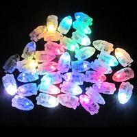 50 PCS Lots LED Balloon Lights RGB Mini Lamps For Paper Lantern MultiColrs Light Balloon Decoration