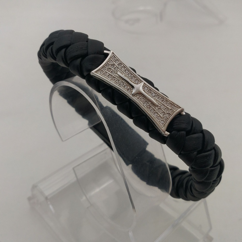 New style popular punk style portable USB data cable charging line PU leather braided bracelet free shipping