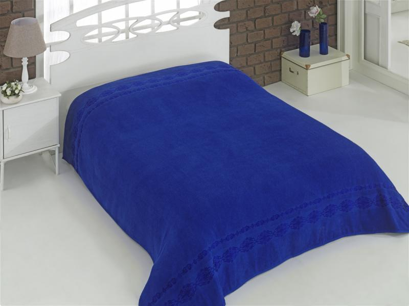 Простыня KARNA, REBEKA, 200*220 см, ярко-синий ярко синий