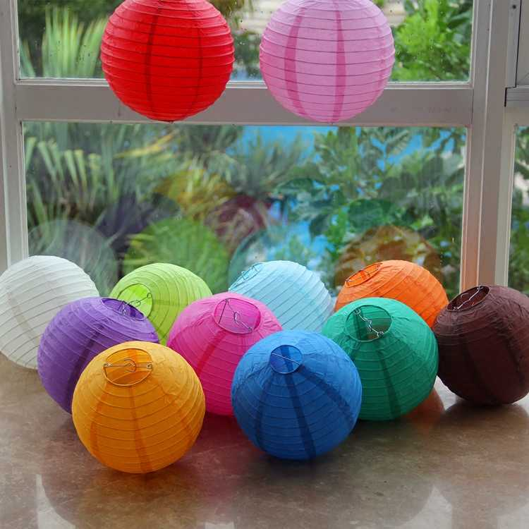 New 15CM paper lantern 6 inch children manual DIY graffiti paper lampshade color   small lanterns hanging ornaments store window