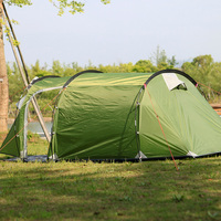 Ultralarge One Hall One Bedroom Double Layer Anti uv Tunnel 3 Person Camping Tents