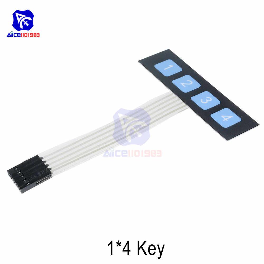 1*2 3 4 6 touche bouton interrupteur à Membrane 3*4 4*4 matrice tableau clavier 1*6 clavier avec panneau de commande indicateur LED pour Arduino