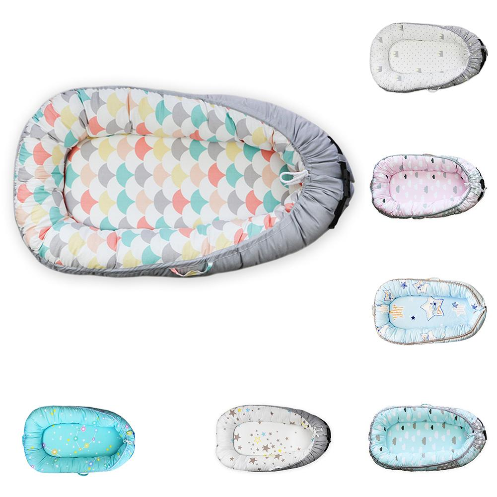 Newborn Baby Bionic Bed Portable Travel Crib Cotton Soft Cradle Baby Nest Bumper