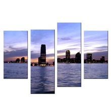 4 panel Home Decor Large Pictures Living Wall Art Cityscape Canvas Print  Poster