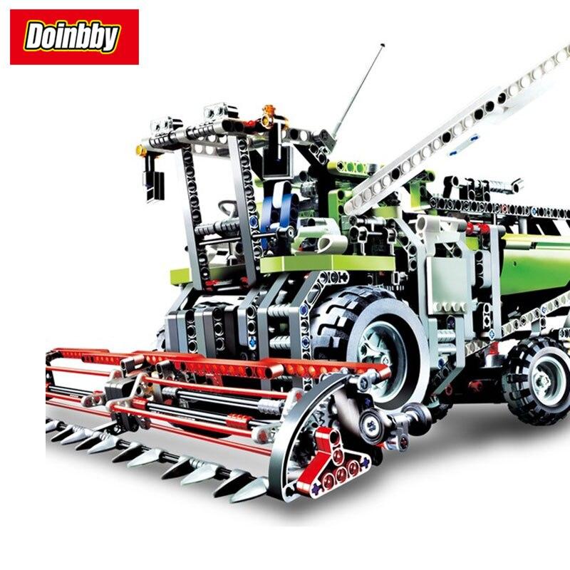 LEPIN 20041 Technic Series The Combine Harvester Set Building Block Set Bricks Kits Toys 1107Pcs Compatible 8274 1107pcs 2in1 techinic combine harvester