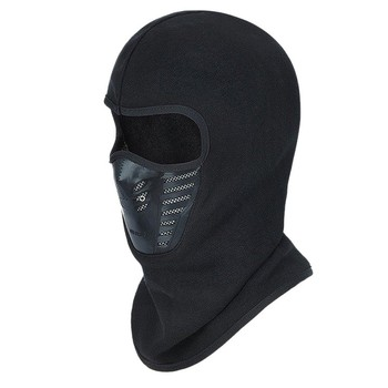 Winter Warm Cycling Face Mask Motocross Windproof Full Face Cover Outdoor Warm Bike Ski Mask Thermal Balaclava Scarf black