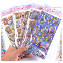 3pcs Random Glitter Crystal Stickers Jewelry Pendant Accessories Findings DIY Charms Handmade Kawaii Cartoon Cat Bulb Ice Cream(China)