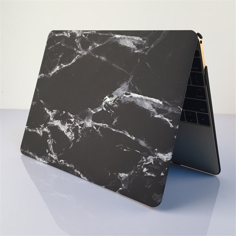 Black Marble Vinyl Cover Case Front Protector for Macbook Bottom Cover for Macbook Air Pro Retine 11 12 13 15 Skin Cover Shell in Laptop Bags Cases from Computer Office