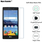 Super thin clear Nano Explosion-proof Soft Glass Screen Protector film For LG K8V VS500 Protective film