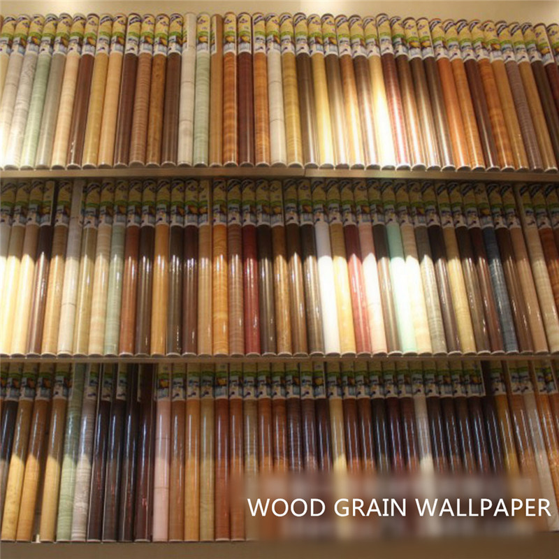 Contact paper bathroom floor : Wood grain sticker self adhesive paper for furniture wall