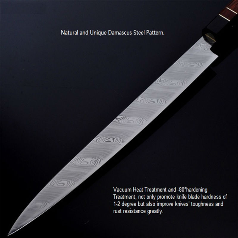 Top Grade Sashimi Knife Swedish Powder Damascus Steel RWL34 Rattan Handle Kitchen  Knives Japan Sushi Knife Free Shipping 1.2 In Kitchen Knives From Home ...