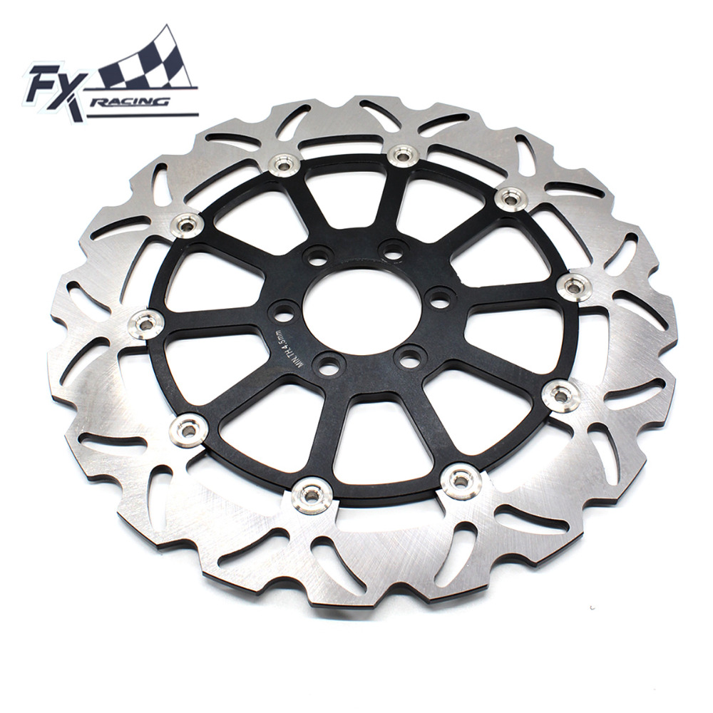 FX CNC Motorcycle 320mm Floating Front Brake Disc Rotor Aluminum For KTM DUKE 125 200 390 DUKE390 2012 2013 2014 2015 2016 new wave rear brake disc rotor for ktm duke 125 2011 2012 2013 2014 duke200 2012 2014 duke390 13 14