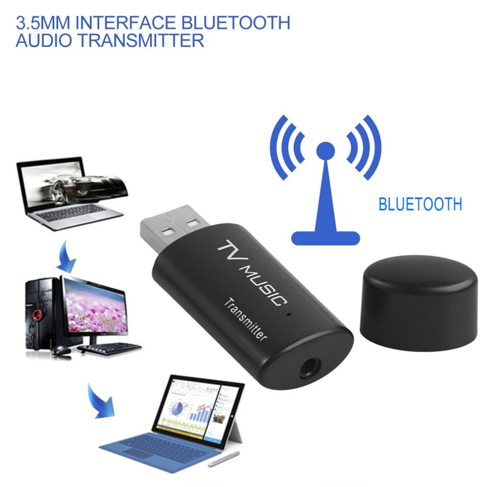 3.5mm USB Bluetooth Audio Transmitter Wireless Stereo Bluetooth Music Box Dongle Adapter for TV Computer DVD MP3 Dropshipping