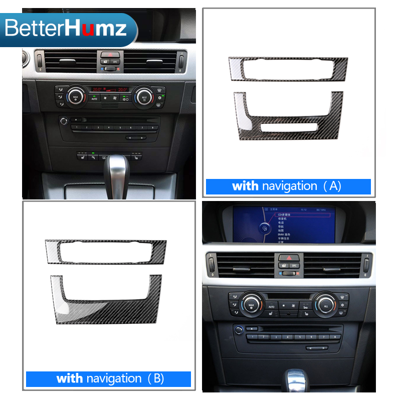 Quality In 2019 Fashion For Bmw E90 E92 E93 3 Series Interior Trim Carbon Fiber Air Conditioning Cd Control Panel Decoration Car Styling Accessories Excellent