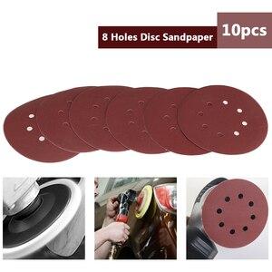 Image 1 - 125mm Schleif Sand Papier 10PCS Haken & Loop Schleifen Papier Disc Power Werkzeuge Zubehör Grütze