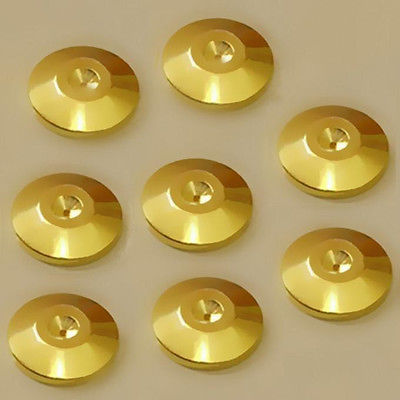 8pcs Gold Discs Audio Cones Amp Speaker Spikes Stands Base ss series speaker stands