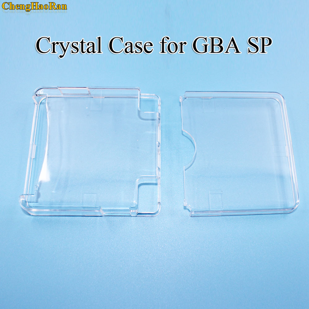 ChengHaoRan 10pcs High quality Clear Protective Cover Crystal Case Shell Housing For Gameboy Advance SP for GBA SP Game Console-in Replacement Parts & Accessories from Consumer Electronics