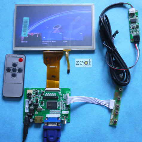 10PCS 7 INCH TFT LCD Module + Touch Panel+ HDMI& VGA&2AV A/D Board 800*480 Resolution CAR PC Display Screen vga 2av revering driver board 8inch 800 600 lcd panel ej080na 05b at080tn52