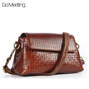 2f655b76c9 Go Meetting Genuine Leather Women Shoulder Bags