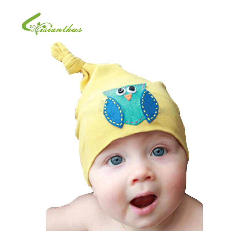 f8305ba2e US $2.65 45% OFF|2019 New Baby Girl Flower Hat Toddlers Cute Owl Design  Radish Cap Baby Spring Summer Knit Sleep Hat Free Drop Shipping  Wholesale-in ...