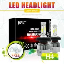 2 шт. H7 H4 светодиодный H11 H1 H3 9005 9006 светодиодный фар автомобиля лампа 72 Вт 8000LM 12 В автомобильные лампы COB Чипсы Белый 6500 К супер яркий HID