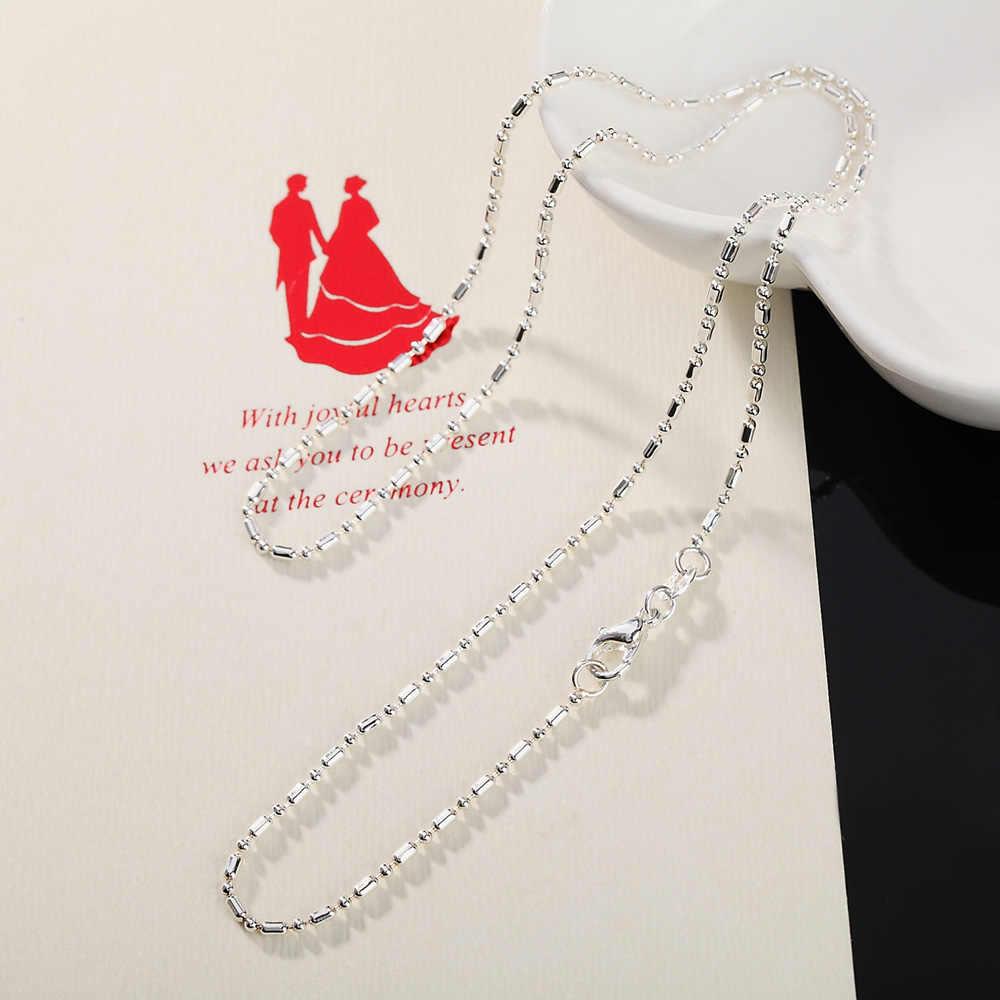 Charms ของขวัญงานแต่งงาน NICE ลูกปัดเงินสีน่ารักสำหรับเครื่องประดับสร้อยคอผู้หญิงแฟชั่นเงินสำหรับจี้ ALN028