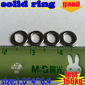 Solid-Ring Fishing Size-1.0--4--6.4mm 304-Stainless-Steel Factory-Direct-Production Test-166kg