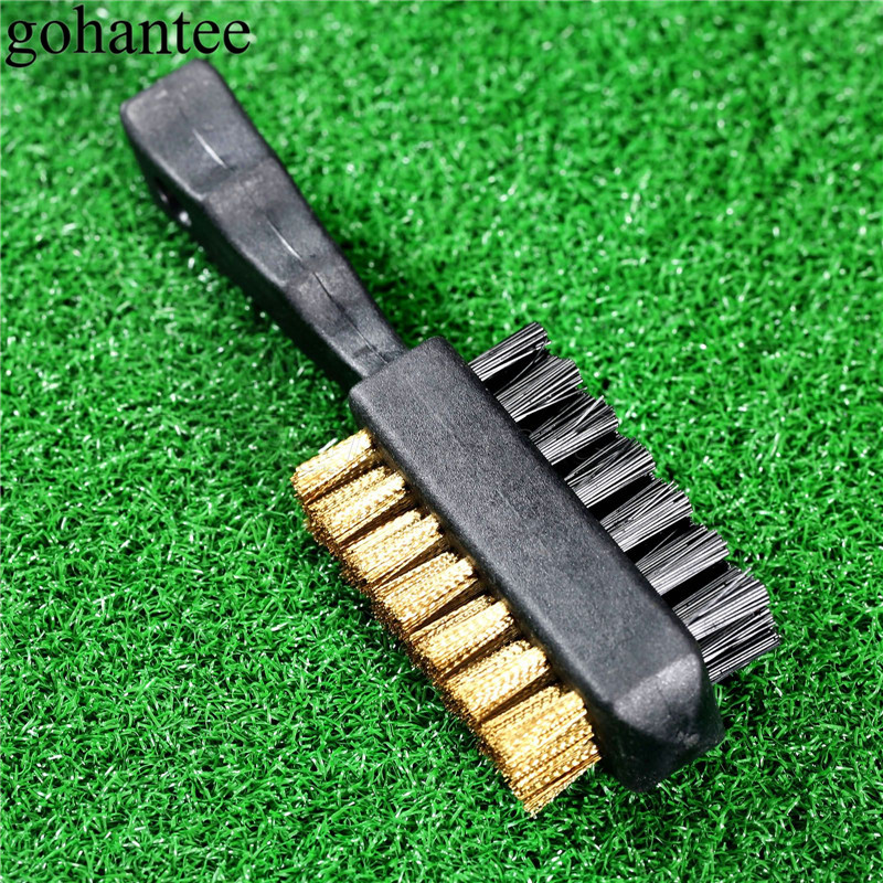 Gohantee 2017 Golf Training Aids Double Sided Golf Iron/Wood Club Groove Cleaner Shoe Cleats Cleaning Scrubber Brush Golfer Tool