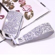 Cristal Artificial chave do caso Chave tampa do caso escudo protetor suporte para Honda Vezel cidade civic Jazz BRV BR V VFC Menina lady presente