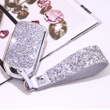 Künstliche Kristall schlüssel fall abdeckung Schlüssel fall schutzhülle halter für Honda Vezel stadt civic Jazz BRV BR V HRV Mädchen dame geschenk