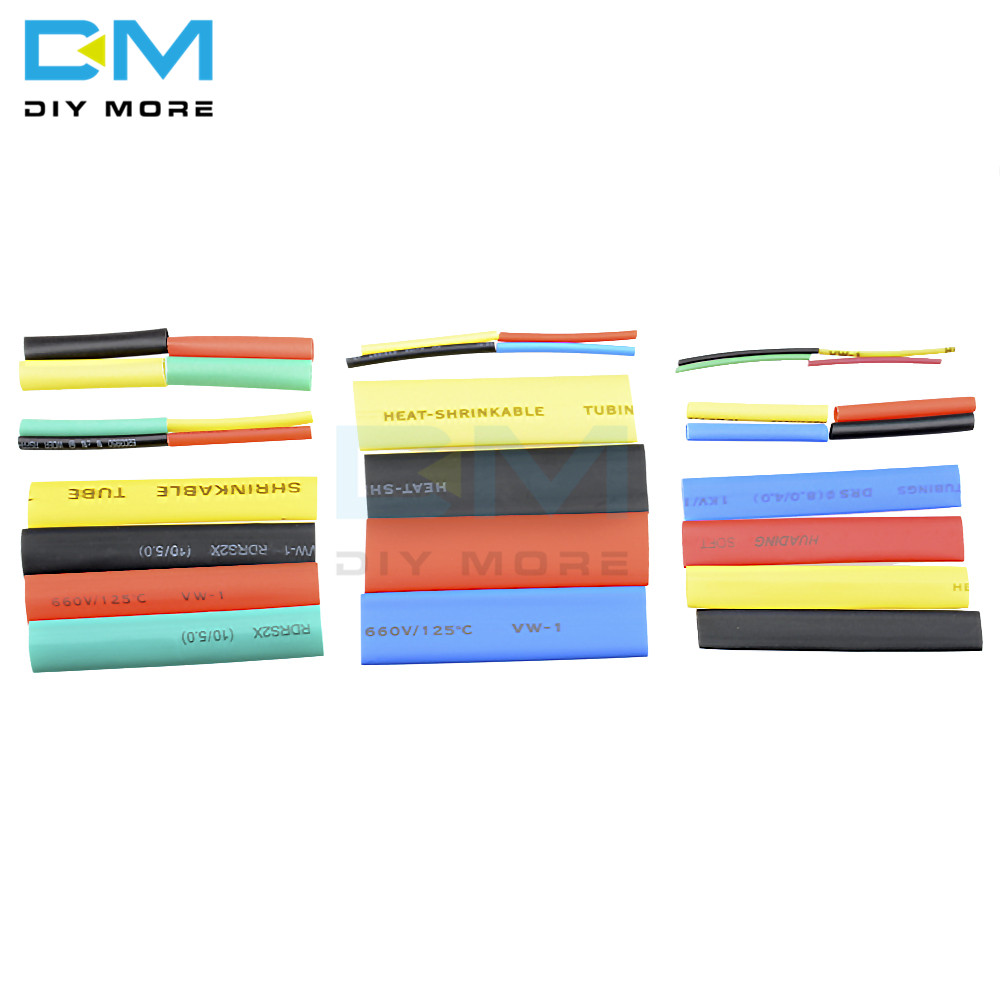 328Pcs Car Electrical Cable Tube kits Heat Shrink Tube Tubing Wrap Sleeve Assorted 8 Sizes Mixed Color