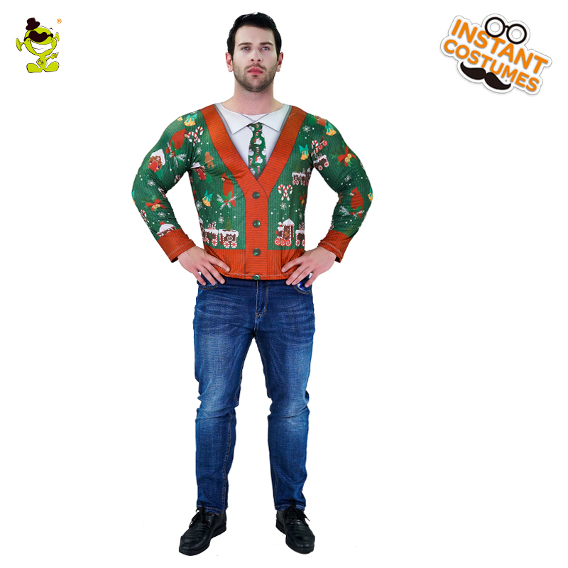 New Popular Christmas Men's 3D Digital Printing T Shirt Costume Christmas Party Clothing Cosplay Funny Costumes