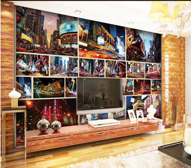 The custom 3D murals,New York Street Beauty puzzle papel de parede,living room sofa TV wall bedroom wall paper the custom 3d murals the new york times center building street black and white living room sofa tv wall bedroom wall paper