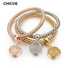Chicvie европейские и американские браслеты с сердечками золотого