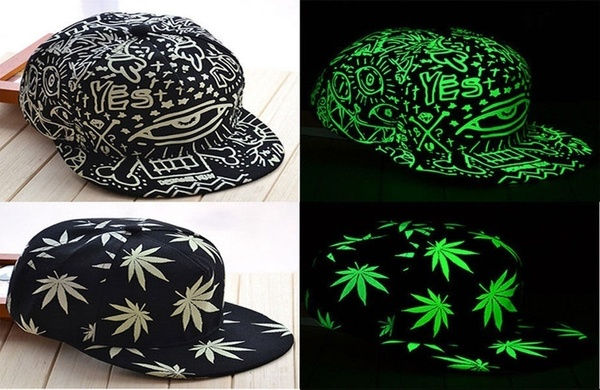 Funny Light In The Dark Night Luminous Glow Snapback Baseball Hip-Hop The latest listing(China)